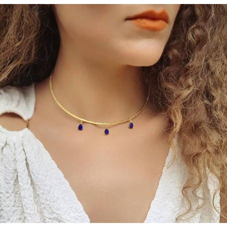 NAYA torque necklace with Lapis Lazuli, front view 5 | Gloria Balensi