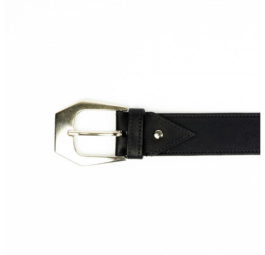GLORIA BALENSI calf leather women's belt, view on buckle