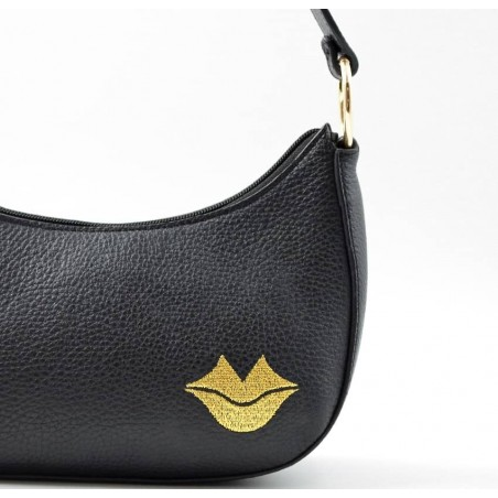 Baguette bag for women, shoulder bag MIA droé GLORIA BALENSI in French bull calf leather, right zoom view