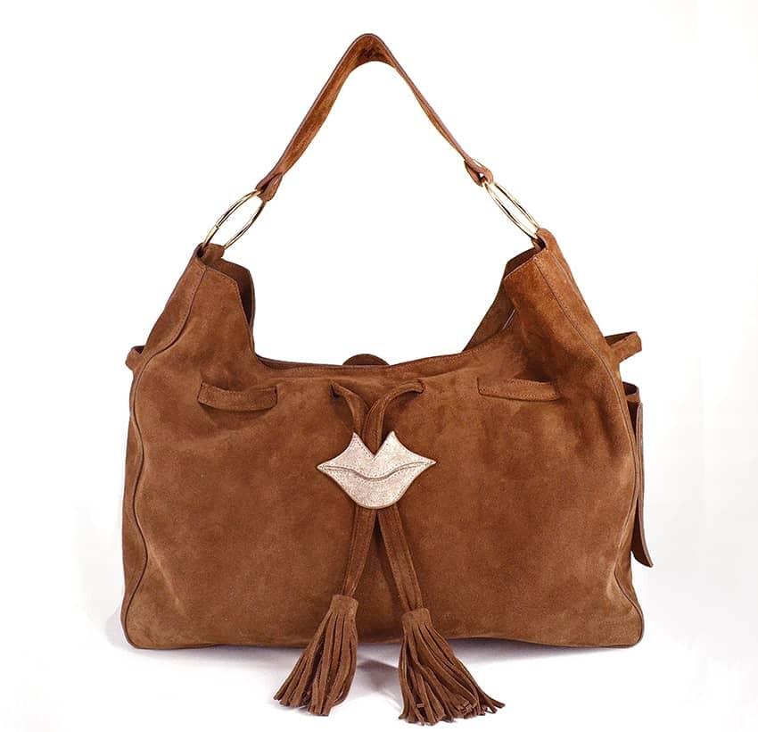 XXL Soft tote bag MIKI camel Gloria Balensi | front view