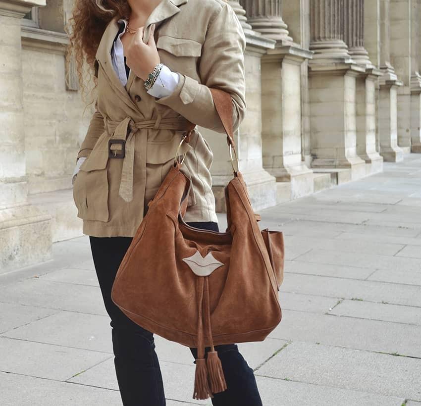 XXL Soft tote bag MIKI camel Gloria Balensi | view 1