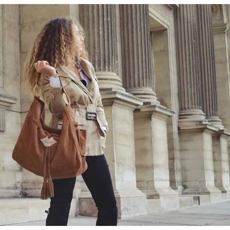 XXL Soft tote bag MIKI camel Gloria Balensi | view 3