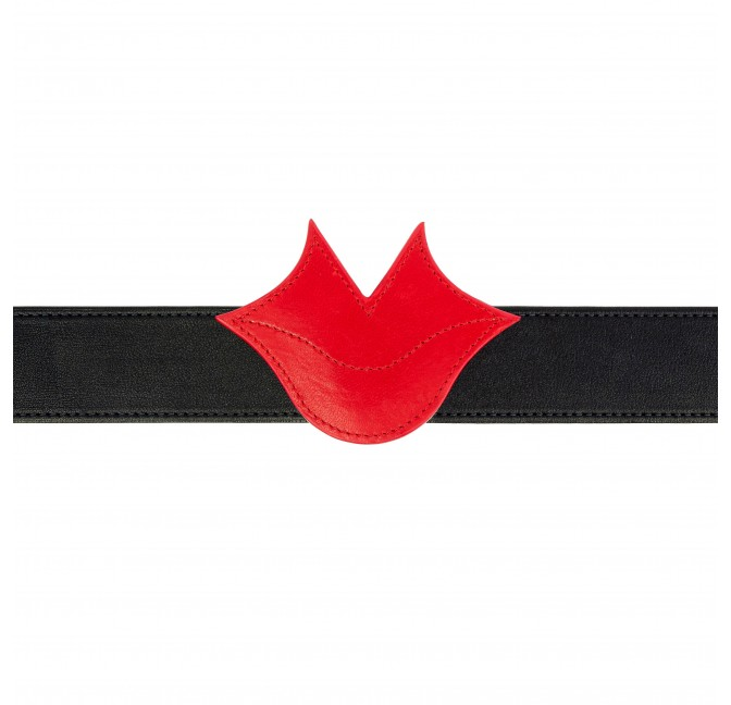 Red leather MUSE belt