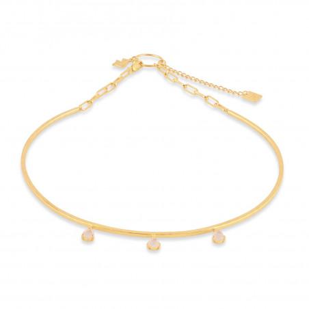 NAYA torque necklace with pink quartz, front view | Gloria Balensi
