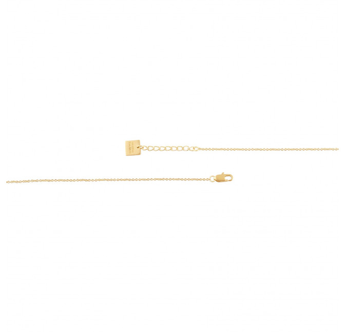 HÉRA chain necklace with moon stone, clasp view  | Gloria Balensi