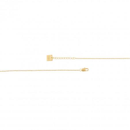 Collier chaîne HÉRA avec pierre lune, vue fermoir | Gloria Balensi