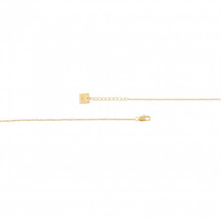 HÉRA chain necklace with pink quartz, clasp view  | Gloria Balensi