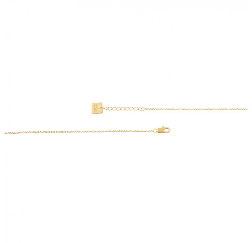 Collier chaîne HÉRA avec onyx noir, vue fermoir | Gloria Balensi