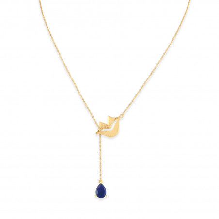 Collier chaîne HÉRA avec lapis lazuli, vue devant   Gloria Balensi