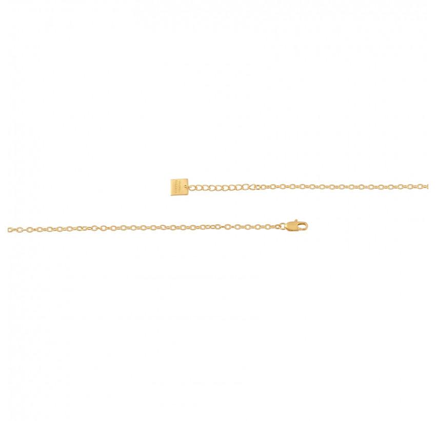 Collier chaîne VENUS avec Lapis lazuli, vue fermoir | Gloria Balensi