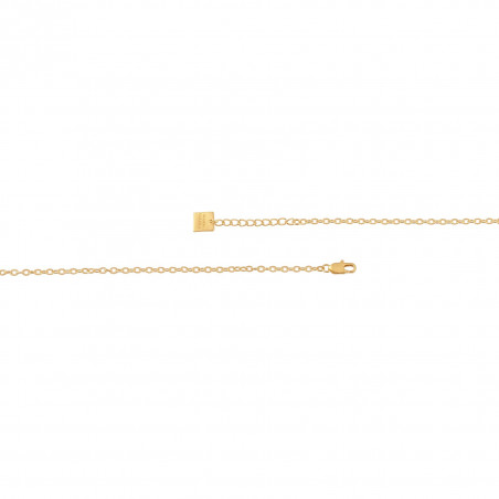 VENUS chain necklace with pink quartz, clasp view | Gloria Balensi