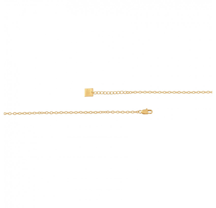 VENUS chain necklace with moon stone, clasp view | Gloria Balensi
